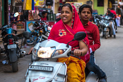 Older Sister with Moped (shapeshift) Tags: in alley alleyways asia candidphotography davidpham davidphamsf documentary family india jaisalmer moped people rajasthan shapeshift southasia street streetphotography transport transportation travel nikon d5600 nikond5600 50mm18 nikon50mm18