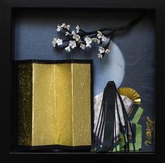 花見屏風 - Hanami Folding screen (清水みのり - Artist) Tags: minori shimizu origami kyoorigami 清水みのり 京おりがみ 日本画 折り紙