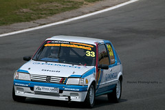 Classic Stock Hatch Championship - Peugeot 205 GTi ({House} Photography) Tags: 750 motor club classic stock hatch championship hot racing race motorsport sport car automotive brands uk kent fawkham track indy circuit housephotography timothyhouse canon 70d sigma 150600 contemporary peugeot 205 gti french