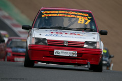 Classic Stock Hatch - 205 GTi ({House} Photography) Tags: 750 motor club classic stock hatch championship hot racing race motorsport sport car automotive brands uk kent fawkham track indy circuit housephotography timothyhouse canon 70d sigma 150600 contemporary peugeot 205 gti french