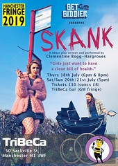 Skank @skanktheplay @ClementineBoggH @getgiddier @TribecaBar1 @GMFringe   (Greater Manchester Fringe) Tags: skank tribeca greatermanchesterfringe gmfringe clementinebogghargroves getgiddier canalstreet manchester fringe theatre debut solo show recycling concerns writer pram witty dark filthythoughts ambitious stage comedy play drama openaccess artsfestival july 2019 performance lancashire northwest england uk whatson entertainment summerholiday summerfestival visitmanchester creativearts citylife liveentertainment premiere