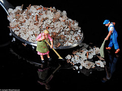 Tiny People - A spoonful ...  wir müssen Ordnung machen (J.Weyerhäuser) Tags: aspoonful flordealgarve h0 hausfrauen macromondays spoon tinypeople