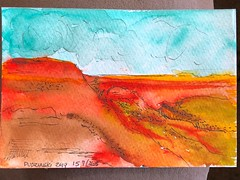 157-365 04-15-19 Grand Canyon (Lainey1) Tags: watercolor arizona grandcanyon canyon mountain crater redrock orange colors 041519 157 157365 travel elainedudzinski lainey1 365 doodle art sketch draw sketchoff girlzsketchy illustration abstract sketching drawing artist sketchbook graphics womensketchshit doodles doodling popart sharpies painting