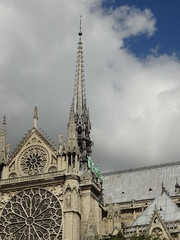 Gone Now... (lloydboy52) Tags: notredameduparis notredamecathedral cathedral mainspire fire destruction roof collapse damage restoration architect violletleduc spire detail architecturaldetail building architecture structure cathedralfire paris france gothic gothicarchitecture