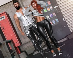 On The Streets (Bryan Trend) Tags: head catwa catya lelutka guy hair runaway stealthic spirit outfit sweats sweater shirt tshirt top shorts jeans gacha set taikou momento backdrop decor hat mask muffler sneakers magnificent beard bento tmd event noche tanktop tank riot leggings signature body belleza jake maitreya gianni slink adam junk food machine 6 republic semotion poses female woman men male new blog post sl second life secondlife couple