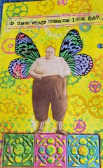 Do These Wings Make Me Look Fat? (limerickme) Tags: mixed media art journal