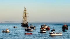 Boats Bobbing in Cascais harbour (Cori Mordaunt) Tags: fishingvessels boats rowboat schooner harbour sea ocean cascais portugal nikon nikond600