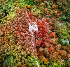 The Beautiful Great Wall of China (Trey Ratcliff) Tags: beijing china beijingshi great wall nature red green foliage architecture culture historic treyratcliff stuckincustoms stuckincustomscom trees