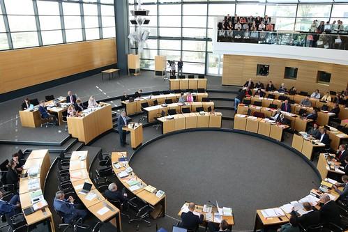 Präsidium (u.a. Präsident Andre Kuper) des Landtags NRW zu Gast im Plenarsaal und im Gespräch mit Präsidentin Birgit Diezel