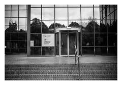 FILM - King's Court reflections (fishyfish_arcade) Tags: 35mm analogphotography bw blackwhite blackandwhite canonsureshotz135 filmphotography filmisnotdead hp5 istillshootfilm monochrome analogcamera compact film ilford mono reflections