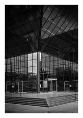FILM - Overhang (fishyfish_arcade) Tags: 35mm analogphotography bw blackwhite blackandwhite canonsureshotz135 filmphotography filmisnotdead hp5 istillshootfilm monochrome analogcamera compact film ilford mono reflections
