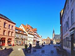 Market Place (Mike Bonitz) Tags: deutschland germany sachsenanhalt saxonyanhalt quedlinburg stadt city architektur architecture marktplatz marketplace haus häuser houses instagram huaweip20