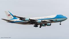 Air Force 1 (coreybrickner) Tags: af1 sam29000 vc25 airforce1 msp usa america boeing 747 nikon tamron d500 100400