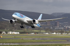 G-TUIE Boeing 787-8 TUI Glasgow airport EGPF 12.03-19 (rjonsen) Tags: plane airplane aircraft aviation airliner dreamliner takeoff departure liftoff thomson
