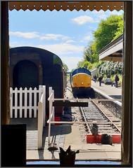 Bodmin General (R~P~M) Tags: train railway diesel locomotive 37 bodminwenfordrailway station bodmingeneral kernow cornwall england uk unitedkingdom greatbritain