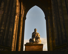 Scott Monument, Edinburgh (Malajusted1) Tags: sir walter scott edinburgh monument memorial princes street statue scotland writer poet history pillars buttresses sunset tourism scottish stone sunlight