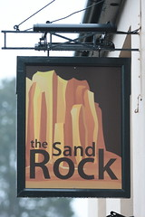 The Sandrock pub sign Wrecclesham Surrey UK (davidseall) Tags: the sandrock pub pubs sign signs inn tavern bar public house houses wrecclesham surrey uk gb british english hanging gbg gbg2016