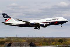 British Airways | Boeing 747-400 | G-BNLY | Landor retro livery | London Heathrow (Dennis HKG) Tags: aircraft airplane airport plane planespotting oneworld canon 7d 100400 london heathrow egll lhr britishairways ba baw speedbird boeing 747 747400 boeing747 boeing747400 gbnly