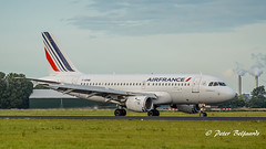 F-GPMB   Airbus A319-100 - Air France (Peter Beljaards) Tags: msn600 cfm565 fgpmb airfrance airbusa319100 a319 airbusa319 haarlemmermeer ams eham airplane aircraft nikon7003000mmf4556 polderbaan runway18r