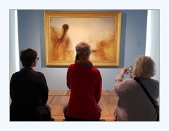 Three ways to look at a Turner (overthemoon) Tags: switzerland suisse schweiz svizzera romandie hermitage exposition peintresanglais turner painting visitors three exhibition gallery phone frame explore 84