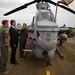 U.S. Ambassador to Australia tours an AH-1Z Viper at RAAF Base, Darwin, Australia
