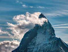 Matterhorn (Trey Ratcliff) Tags: blue cloud ice snow peak mountain sky treyratcliff stuckincustoms stuckincustomscom treyratcliffcom climb landscape zoom hdr