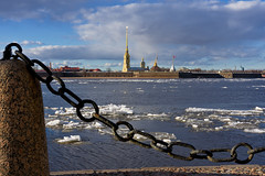 Chained (kanyck (Thanx 4 0.6M views!)) Tags: 1835 d7200 nikon sigma sky saintpeterburg spb water neva peterandpaulfortress ice ngc explored