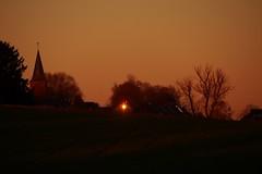 Sonnenspiegelung (photohml) Tags: photograf sunset sonnenuntergang spiegelung reflexion reflektion colorful scenery rheinland nrw nordrheinwestfalen linnich boslar olympus omd em5 40150 zuiko 2019
