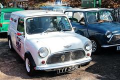 1973 Morris Mini Van TYY256L Brooklands Mini Day March 2019 (davidseall) Tags: 1973 morris mini van car tyy256l tyy 256l classic old style shape original great british brooklands day march 2019 weybridge surrey uk
