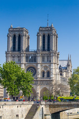 Notre Dame, in better times - 2017 (Peter.Stokes) Tags: buildings colour colourphotography europe landscape landscapes outdoors panorama paris photo photography sky spring vacations church notredame