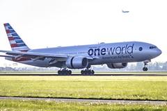 N791AN (Rudy 'RuudsteR' van de Leemput) Tags: civil aviation schiphol airport eham ams american airlines boeing 777 oneworld