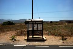 Commuter unfriendly (Sondre_RS) Tags: trash road remote stop bus greece f4 f4l ef 1740mm ef1740mm 30d eos canon