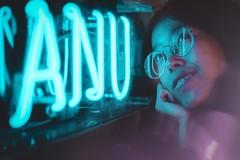 Cathy (NKij) Tags: australia anu australian national university portraits scientist portrait photgraphy fuji canon xe3 fall canberra acton neon sign photography