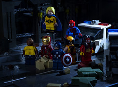 The New Avengers (Ben Cossy) Tags: lego moc afol tfol sentry luke cage powerman iron man cap captain america steve rogers tony stark spiderwoman spiderman wolverine