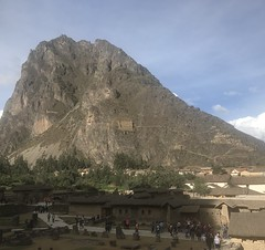 Ollantaytambo no Vale Sagrado - Perú (robertoguerra10) Tags: ollantaytambo vale sagrado incas rei rosto barba cabelo coroa silos graos yrttrmoto século xx