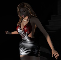 Out of darkness comes light. (parisevermore) Tags: ghee thedarknessevent emotions belleposes freya maitreya hourglass physique toniccurvy purplemoon jewelry secondlifeevents virtualfashion fashion hair mesh