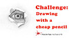 Challenge: Drawing With a Cheap Pencil - A Realistic Eye