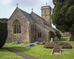 Church of the Blessed Virgin Mary, Cheddon Fitzpaine (hasselfan) Tags: church blessed virgin mary cheddon fitzpaine somerset churchyard bell tower trees landscape architecture stained glass window hasselbladswcm cfv50c stone work