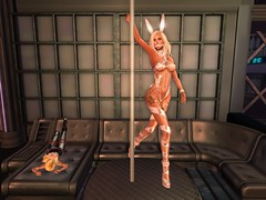 Taking Turns (Cherie Langer) Tags: fantasy scifi sf future dancer poledance bunny space dancers