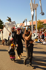 Parade of skeletons (radargeek) Tags: 2017 october dayofthedead plazadistrict okc oklahomacity facepaint kid child catrina