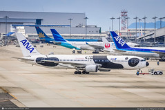 [KIX.2013] #All.Nippon.Airways #NH #ANA #Boeing #B767 #B763 #JA606A #FLY.PANDA #awp (CHRISTELER / AeroWorldpictures Team) Tags: allnipponairways nh ana japan airlines airliner asian japanese plane aircraft airplane boeing avion b767 b763 767381 er msn32975883 engines ge cf6 ja606a flypanda special color panda livery airport osaka kansai kix rjbb towing aviation spotting planespotting spotter christeler avgeek aeroworldpictures awp team pictures nikon d300s raw nef nikkor 70300vr lightroom