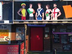 Crazy Scots Bar, Blackpool (Rhisiart Hincks) Tags: bratacha bannieloù flags baneri ostaleri publichouse taighseinnse teachtabhairne degemermad croeso fáilte welcome advertising hysbyseb éiriannach englishman albanach rasta cymraes tafarn pub lloegr england blackpool scotsbar