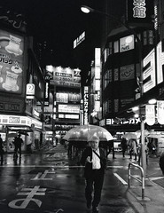 Suits and Umbrella's (Peter Bruijn) Tags: tokyo shinjuku japan fuji fujiga6645 fujiga645 ga645 645 645format 645film fuji645 ilford ilforddelta ilforddelta3200 delta3200 3200 night nighttime nightphotography street streetphotography blackwhite blackandwhite bw monochrome ilfordfilm film filmisnotdead filmphotography filmphoto 120film bwfilm rolfilm analog analogue analogphotography analogfilm analogphoto analoog 120analog fujianalog japanfilm