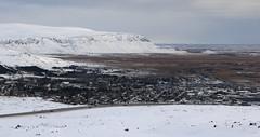 Hveragerði (hó) Tags: hveragerði town suðurland iceland landscape hellisheiði kambar kambabrún mountain ingólfsfjall snow winter march 2019 vista