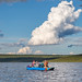 Paddlers on Paxson Lake