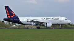 OO-SSJ (AnDyMHoLdEn) Tags: brusselsairlines a319 staralliance lufthansagroup egcc airport manchester manchesterairport 05r