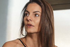 Brown is ... 💋 (Suissecoach) Tags: shooting tfp indoor godoxad200 sonyalpha face eyes portrait brown beauty model