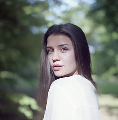 Alexandra (Analogsquare) Tags: hasselblad 500cm carl zeiss planar 8028 kodak portra 160vc expired film analog medium format portrait brunette beauty female bokeh dof young cute girl