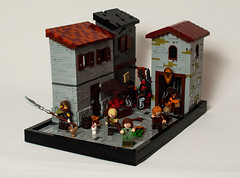 Raid on the town (Mark van der Maarel) Tags: lego moc minifgures afol vignette castle fantasy
