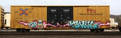 Tawl (quiet-silence) Tags: graffiti graff freight fr8 train railroad railcar art tawl fb ttx tbox boxcar tbox661586